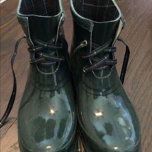Shoes - Green rain boots